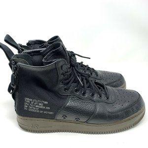 Nike SF AF1 Air Force 1 Black MID Hazel 917753-002 Men's Size 9.5